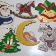 Набор новогодних игрушек для разукрашивания