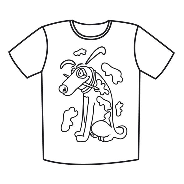 Ребенок в футболке раскраска